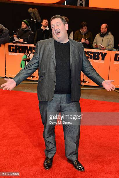 Johnny Vegas attends the World Premiere of 'Grimsby' at Odeon Leicester Square on February 22 2016 in London England