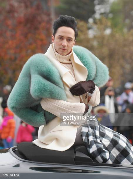 Johnny Weir appears at the 91st America's Thanksgiving Day Parade on November 23 2017 in Detroit Michigan