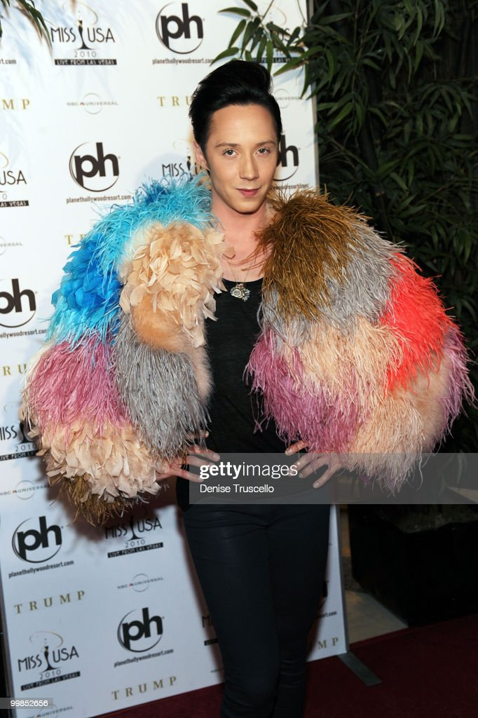 Johnny Weir arrives at the Miss USA 2010 pageant at Planet Hollywood Casino Resort on May 16, 2010 in Las Vegas, Nevada.