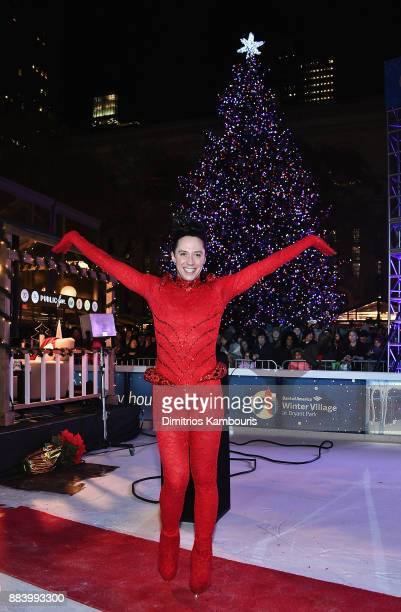 Johnny Weir attends the Bank of America Winter Village at Bryant Park's Annual Tree Lighting Skatetacular on December 1 2017 in New York City