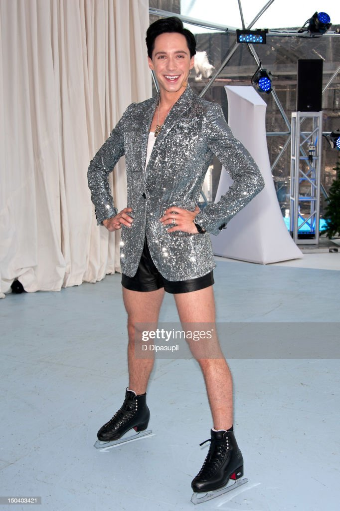 Johnny Weir attends the opening of Jaguar's 'Chill NY' at High Line Park on August 16, 2012 in New York City.