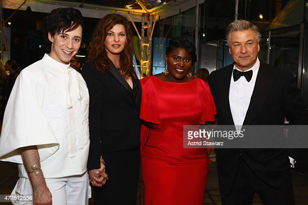 Johnny Weir Linda Evangelista Danielle Brooks and Alec Baldwin attend the 2015 Fragrance Foundation Awards at Alice Tully Hall at Lincoln Center on...