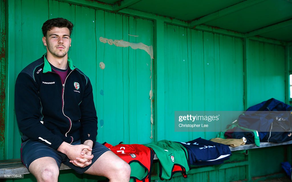 Johnny Williams of London Irish poses for the camera during the London Irish Media Session at Hazelwood Centre on May 4, 2016 in Sunbury, England.