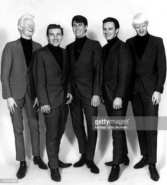 Johnny Winter poses with his brorther Edgar Winter and The Beaumonts during a circa 1965 photo session in Beaumont Texas