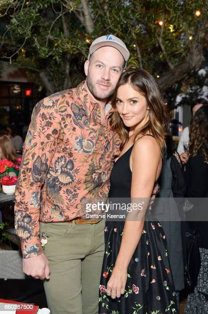 Johnny Wujek and Minka Kelly attend Minka Kelly and Barrett Ward CoHost the FashionABLE Equal Pay Day kickoff Dinner at Gracias Madre on March 29...
