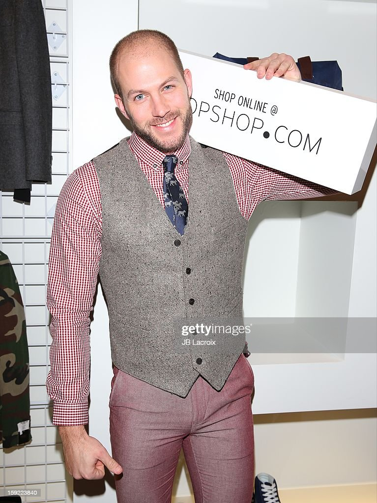Johnny Wujek attends the TopMen Exclusive Pop Up Shopping Event at TopShop on January 9, 2013 in Los Angeles, California.