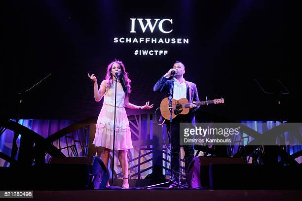"Johnnyswim performs at the exclusive gala event ""For the Love of Cinema"" during the Tribeca Film Festival hosted by luxury watch manufacturer IWC..."