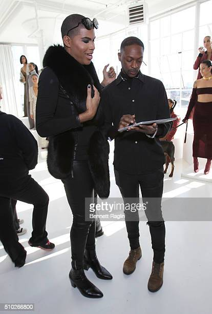 Johnson and fashion designer LaQuan Smith pose during SheaMoisture at Laquan Smith F/W 2016 NYFW at Jack Studios on February 14 2016 in New York City