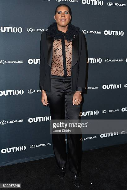 Johnson attends The OUT100 2016 Gala at Metropolitan West on November 10 2016 in New York City