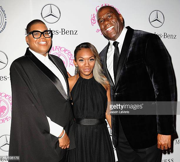 EJ Johnson Elisa Johnson and Earvin 'Magic' Johnson attend the 2014 Carousel of Hope Ball at The Beverly Hilton Hotel on October 11 2014 in Beverly...