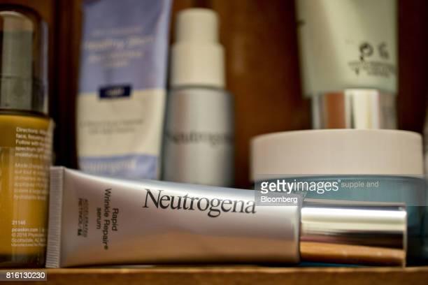 Johnson Johnson Neutrogena brand wrinkle repair serum is arranged for a photograph in Tiskilwa Illinois US on Tuesday July 11 2017 Johnson Johnson is...