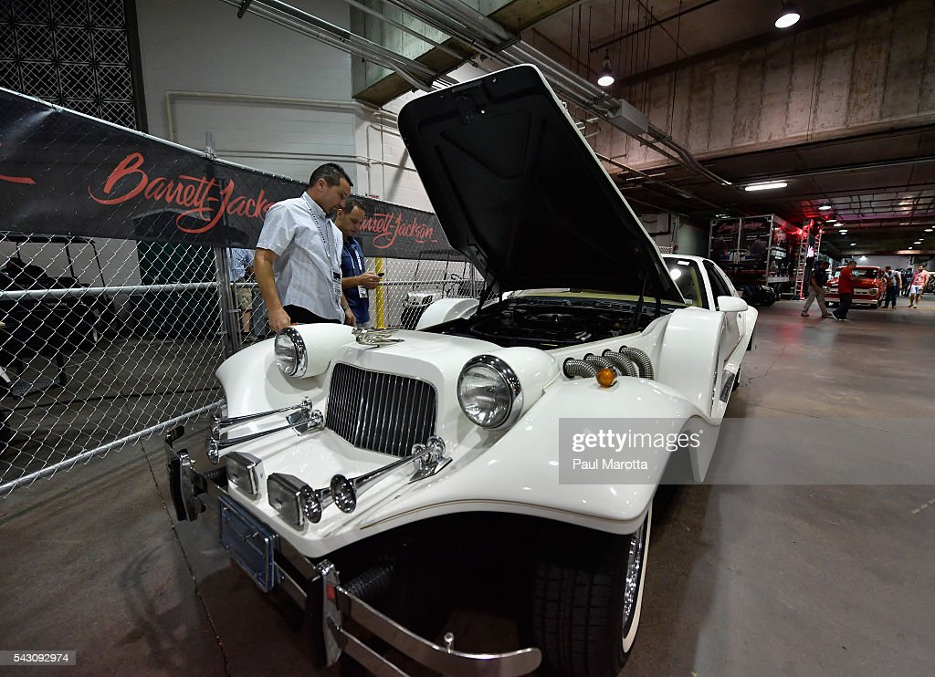 Johnson Phantom is auctioned at the Barrett-Jackson Inaugural Northeast Auction at Mohegan Sun Arena on June 25, 2016 in Uncasville, Connecticut. Organizers estimated app. 70,000 vistors attended the three day auction June 23-25 during which hundreds of collectors were sold at auction.
