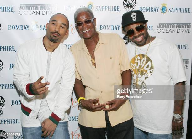 Johnta Austin Jermaine Dupri George Daniels during Virgin and Bombay Sapphire Chicago Showcase for Johnta Austin with Jermaine Dupri August 8 2006 at...
