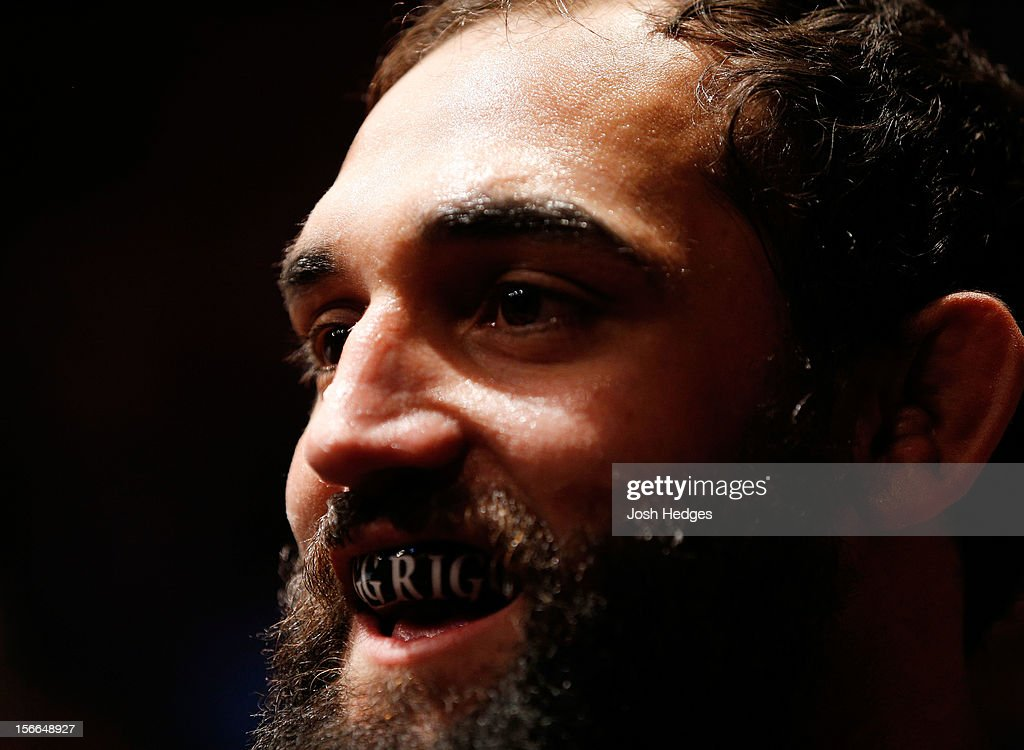 Johny Hendricks looks on before fighting against Martin Kampmann in their welterweight bout during UFC 154 on November 17, 2012 at the Bell Centre in Montreal, Canada.