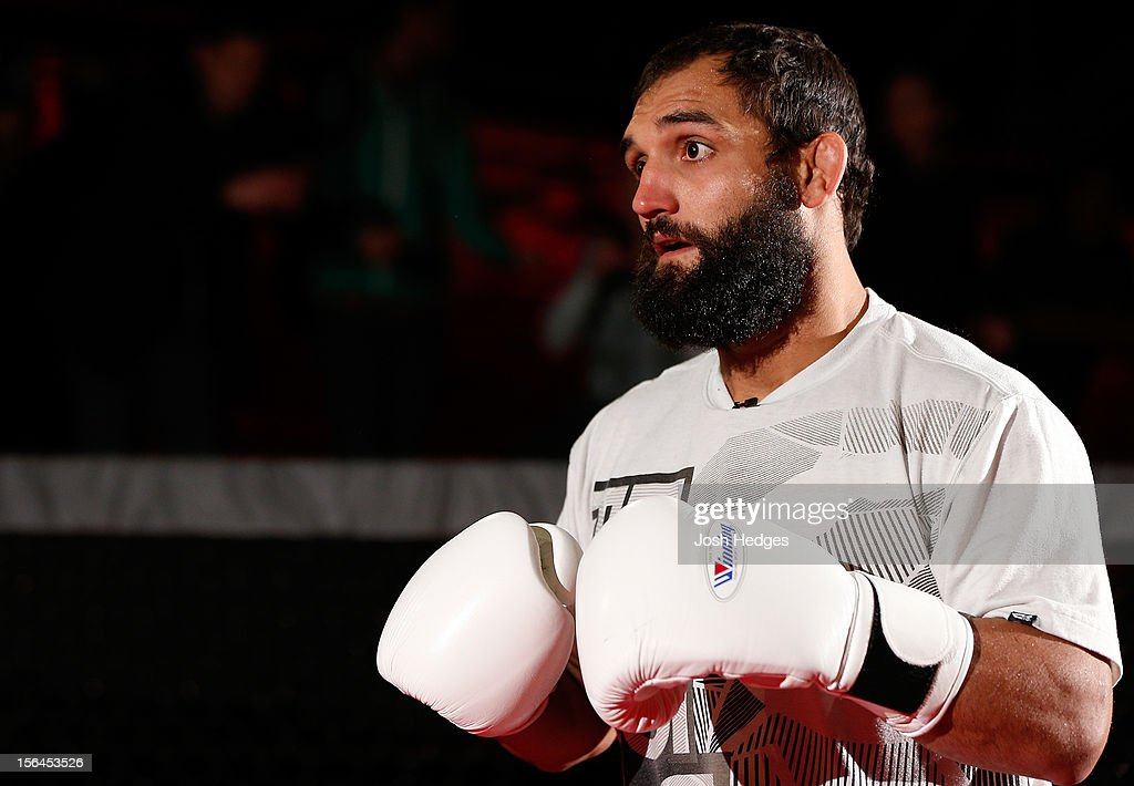 Johny Hendricks works out for media and fans during an open training session ahead of UFC 154 at New City Gas on November 15, 2012 in Montreal, Quebec, Canada.