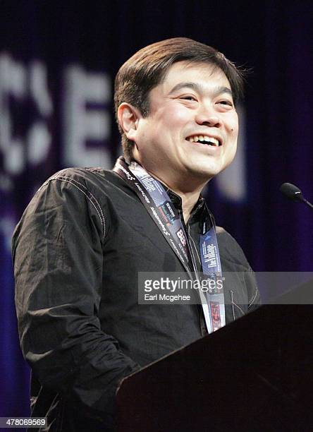 Joi Ito speaks onstage at the SXSW Interactive Awards Ceremony during the 2014 SXSW Music Film Interactive Festival at Hilton Hotel on March 11 2014...
