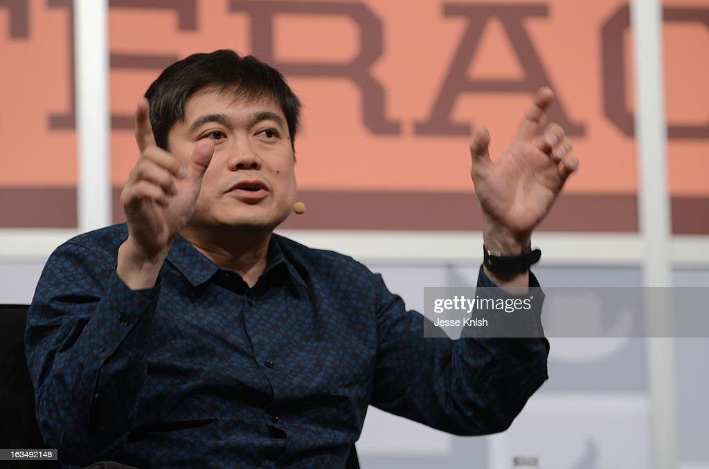 Joichi Ito, Director of the MIT Media Lab speaks onstage at The New Serendipity? during the 2013 SXSW Music, Film + Interactive Festival at Austin Convention Center on March 10, 2013 in Austin, Texas.