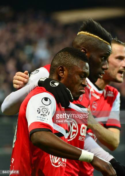 Joie Abdul Majeed WARIS / Arthur MASUAKU / Gregory PUJOL Valenciennes / Rennes 28e journee Ligue 1 Photo Dave Winter / Icon Sport