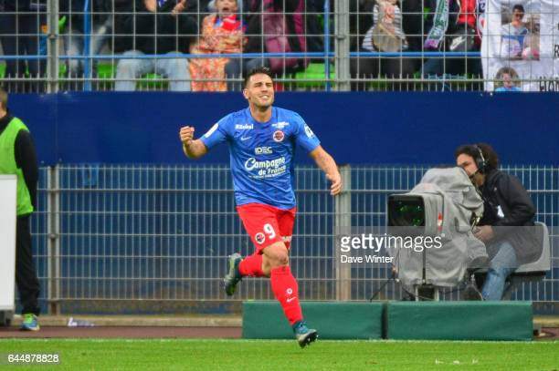 Joie Andy DELORT Caen / Saint Etienne Ligue 1 9e journee Photo Dave Winter / Icon Sport