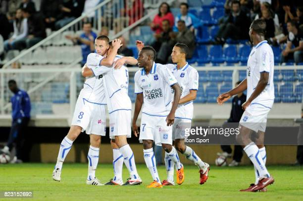 Joie Anthony LE TALLEC / Alain TRAORE Auxerre / Ajaccio 4eme journee de Ligue 1