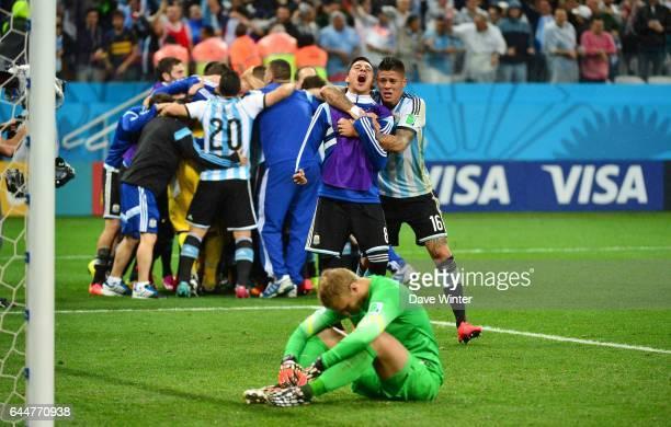 Joie Argentine / Deception Jasper CILLESSEN Argentine / Pays Bas 1/2Finale Coupe du Monde Sao Paulo Photo Dave Winter / Icon Sport