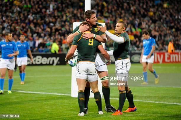 Joie Bakkies BOTHA / Francois HOUGAARD / Bryan Habana Afrique du Sud / Namibie Coupe du Monde de Rugby 2011