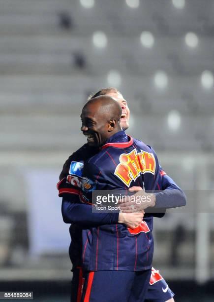 Joie Claude MAKELELE Auxerre / PSG 1/4 de finale de Coupe de France Stade Abbe Deschamps Auxerre