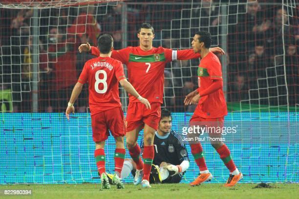 Joie Cristiano RONALDO Argentine / Portugal Match amical Geneve