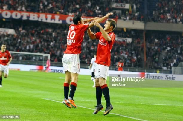 Joie de NENE / Mathieu BODMER PSG / Valenciennes 33e journee de Ligue 1