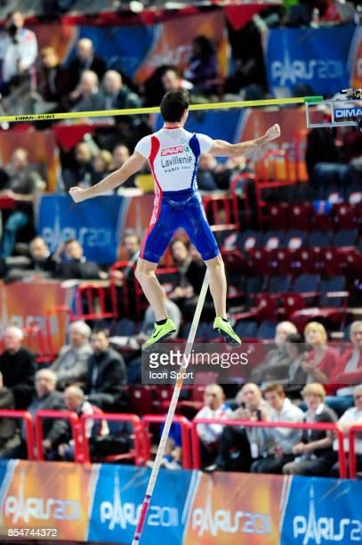 Joie de Renaud LAVILLENIE Saut a la Perche Championnats d'Europe en salle BercyParis