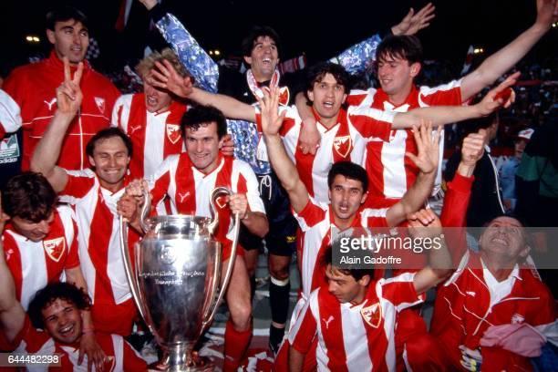 Joie Etoile Rouge / Dejan SAVICEVIC Marseille / Etoile Rouge Belgrade Finale Coupe d'Europe des Clubs Champions Bari Photo Alain Gadoffre / Icon Sport
