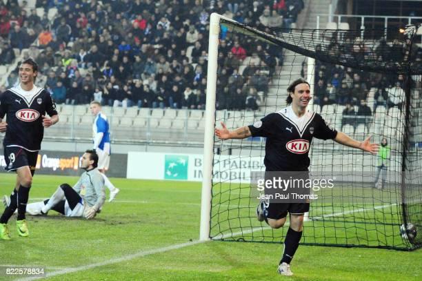 Joie Fernando CAVENAGHI Grenoble / Bordeaux 21eme journee de Ligue 1 Stade des Alpes