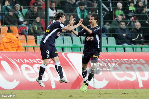 Joie Fernando CAVENAGHI / Marouane CHAMAKH Saint Etienne / Bordeaux 25e journee Ligue 1