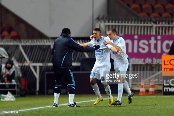 Joie Hatem BEN ARFA PSG / Marseille 27eme journee de Ligue 1 Parc des Princes