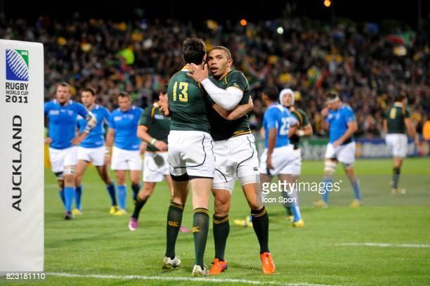 Joie Jaque FOURIE / Bryan Habana Afrique du Sud / Namibie Coupe du Monde de Rugby 2011
