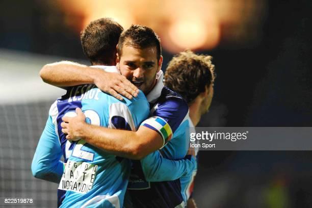 Joie Jean Michel LESAGE / Stephane NORO Le Havre / Nantes 13eme journee de Ligue 2