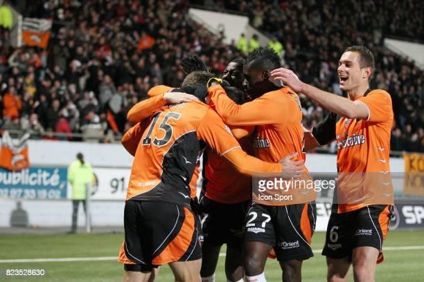 Joie Jeremy Morel / Kevin Gameiro Lorient / Rennes 15eme journee de Ligue 1