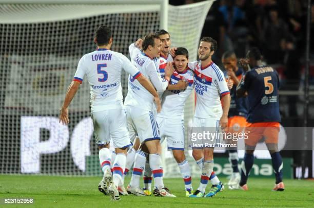 Joie Jeremy PIED Lyon / Montpellier 4eme journee de Ligue 1