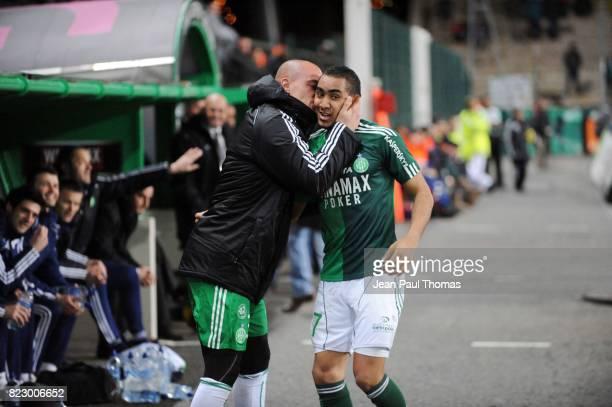 Joie Jessy MOULIN / Dimitri PAYET Saint Etienne / Brest 27e journee Ligue1