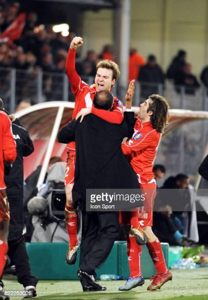 Joie Jonathan LACOURT / Antoine KOMBOUARE Valenciennes / Le Havre 28e journee Ligue 1