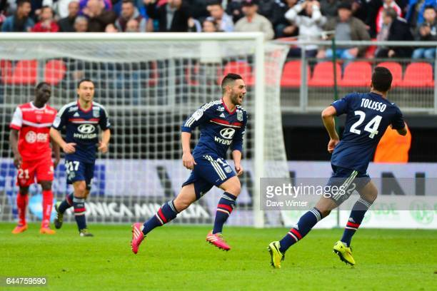 Joie Jordan FERRI Valenciennes / Lyon 32eme journee de Ligue 1 Photo Dave Winter / Icon Sport