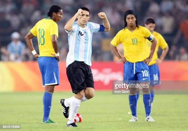 Joie Juan Martin RIQUELME / Decption RONALDINHO Bresil / Argentine 1/2 Finale Jeux Olympiques Pekin 2008