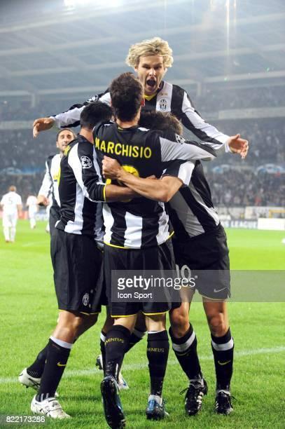 Joie Juventus de Turin / Pavel NEDVED Juventus Turin / Real madrid 1er tour Champions League