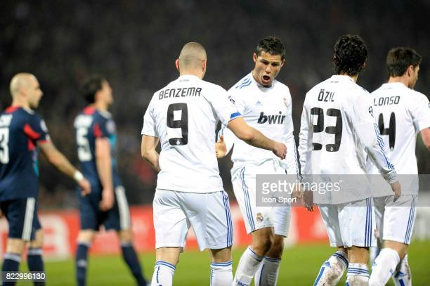 Joie Karim BENZEMA / Cristiano RONALDO Lyon / Real Madrid 1/8 Finale aller Champions League