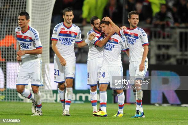 Joie Lisandro LOPEZ / Jeremy PIED / Miralem PJANIC Lyon / Montpellier 4eme journee de Ligue 1