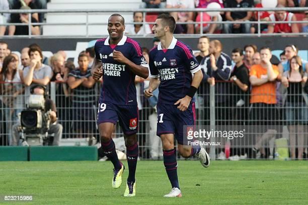 Joie Lyon Jimmy BRIAND / Maxime GONALONS Dijon / Lyon 6eme journee de Ligue 2