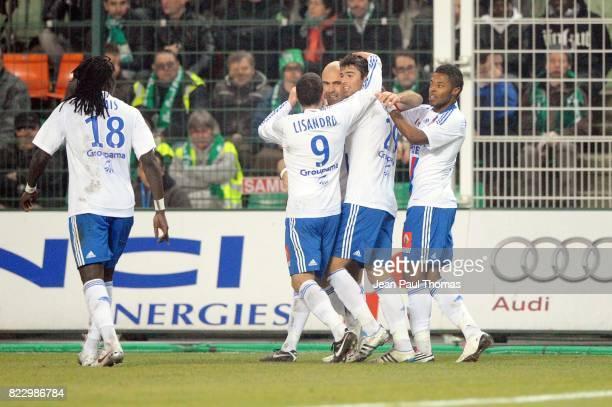 Joie Lyon Yoann GOURCUFF û Saint Etienne / Lyon 23 eme journee de Ligue 1 ûSaint Etienneû
