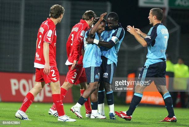 Joie Mamadou NIANG / Bakary KONE / Benoit CHEYROU Valenciennes / Marseille 9e journee Ligue 1 Photo Dave Winter / Icon Sport