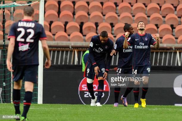 Joie Mateja KEZMAN PSG / Boulogne 30eme journee de Ligue 1 Parc des Princes Paris