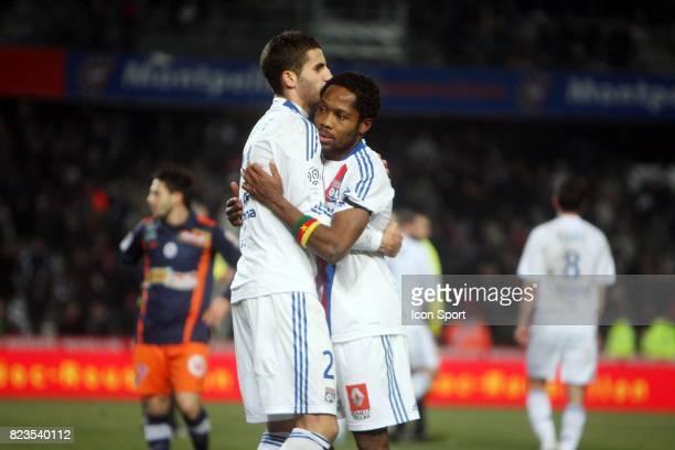 Joie Maxime GONALONS / Jean II MAKOUN Montpellier / Lyon 16e journee Ligue 1